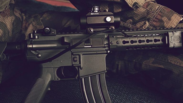 M4 carabine AR15 for airsoft made by g and g airsoft guns producer retouched