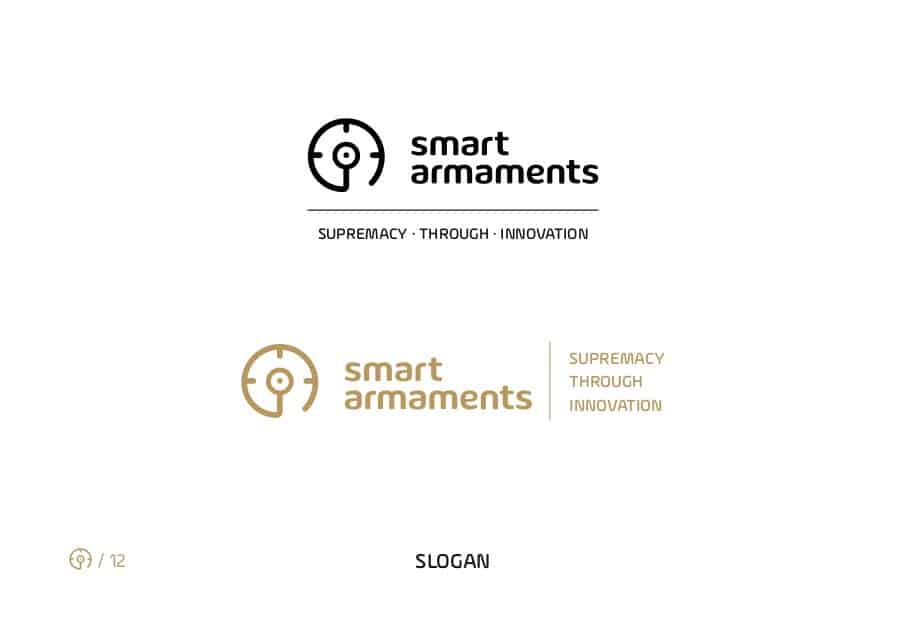 Smart Armaments logo slogan brandbook
